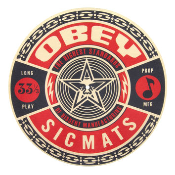 Sicmats: Obey Slipmats (Pair) - Red / Black / Gold