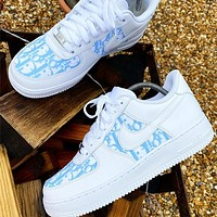 DIOR*NIKE Air force one Fashion casual shoes