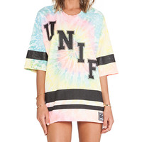 UNIF Don't Play Tee in Pink