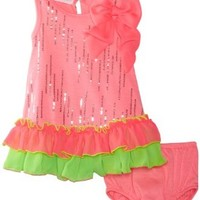 Bonnie Baby Girls' Dress With Panty, Pink, 24 Months