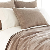Chambray Linen Bed Linens- Sable