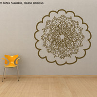 Vinyl Wall Decal Sticker Oriental Flower Motif Item #OS_MB121