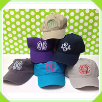 Monogrammed Baseball Hat - Great for Graduation Gifts, Spring Break, Beach, and Summer