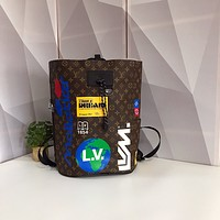 LV Louis Vuitton MONOGRAM CANVAS ZAINO CHALK BACKPACK BAG