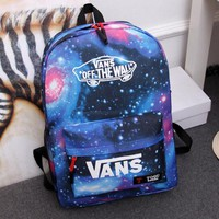 VANS College feng men and women school backpacks young lovers pack leisure sports bag-1