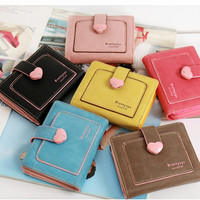 Pretty zys women's Leather Coin Purse Candy Color Mini Hasp Card Clutch Purse Travel Wallet 6 Colors = 1958621124