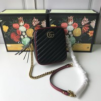 Kuyou Gb99822 Gucci 550155 Gg Marmont Chain Shoulder Bag With Double G Hardware 16.5x19.5x7.5cm
