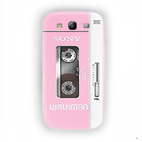 Pink Walkman iGadgitz Silicone Skin For Samsung Galaxy S3 Case