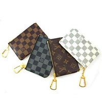 Hipgirls Louis Vuitton LV Fashion Household Zipper Key Pouch Clutch Bag Coin Purse Wristlet