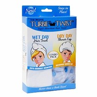 Combo Pack Wet Day/Dry Day Hair Towel & Shower Cap
