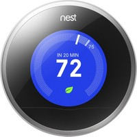 Nest - 2nd-Generation Learning Thermostat - Stainless-Steel
