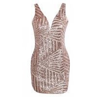 Vintage Sequined Mini Dress - FREE SHIPPING