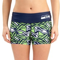 Women's Seattle Seahawks College Navy Thematic Print Shorts