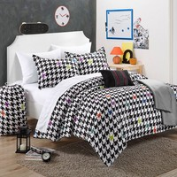 Michelle Reversible Comforter Set (Black)