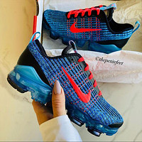 Nike Air Vapormax Flyknit Nike Air Vapormax Flyknit Air Cushion Color Block Men's and Women's Basketball Shoes Sneakers