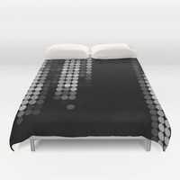 Shades Of Grey Dot Pattern Duvet Cover by Corbin Henry
