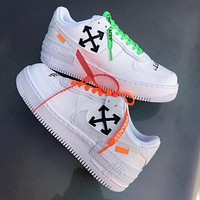 Nike Air Force 1 X Off-white Low-Top Joker Flat Sneakers Shoes White