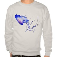 Intricate Cool Fun Unique Jellyfish Gone Diving Pullover Sweatshirt