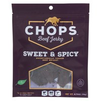 Chops Beef Jerky - Beef Jerky Sweet And Spicy - Case Of 8-2.75 Oz