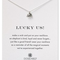 """Dogeared Lucky Us Necklace, 16"""" 