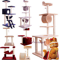 CICI-GO Kitten Cat Tree Condo Furniture Scratching Post Pet House Play Toys US