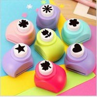 Mini Scrapbook Punches Handmade Cutter Card Craft Calico Printing DIY Flower Paper Craft Punch Hole Puncher Shape