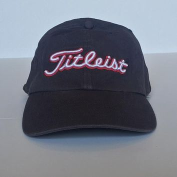 Grey with red white Titleist logo Golf Cap