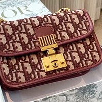 Dior embroidered old letters women's chain bag shoulder bag crossbody bag