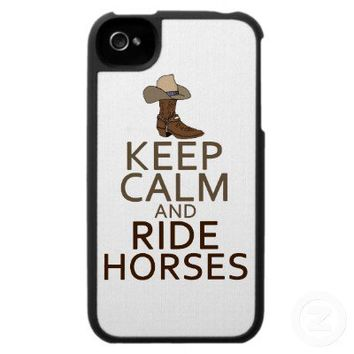 Keep Calm and Ride Horses iPhone 4 Covers from Zazzle.com
