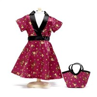"""Satin Tunic Dress - 18 Inch Doll Clothes/clothing Fits American Girl - Outfit Includes 18"""" Dolls Accessories"""