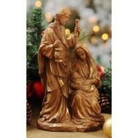 Gold Leaf Holy Family Statue