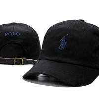 Black POLO Embroidered Baseball Cap Hat