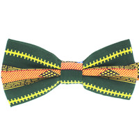 Tok Tok Designs Pre-Tied Bow Tie for Men & Teenagers (B401, African Wax Fabric)