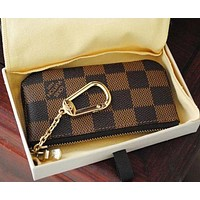 Inseva LV Louis Vuitton Classic Trending Stylish Key Pouch Clutch Bag Wristlet I/A