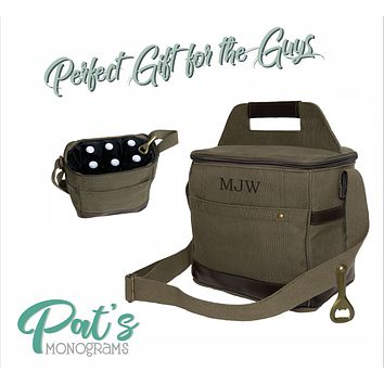 Canvas Insulated Beer Cooler Tote
