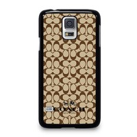 COACH NEW YORK BROWN Samsung Galaxy S5 Case Cover