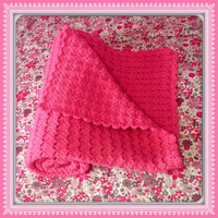 Baby Crib Soft LARGE 36x31 Blanket for boy or girl MANY COLORS (more sizes) Baby Shower Gift Hand Crochet Afghan (Pink Shown) Nursery Decor
