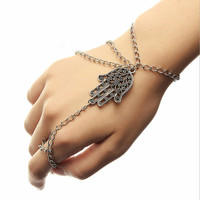 Vintage Hamsa Hand Chain Bracelet Boheme Gold silver body chain Boho Chic Hippie Hipster Hand Body Jewelry