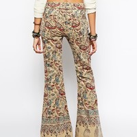 Free People Bali Flare In Feather Paisley Print