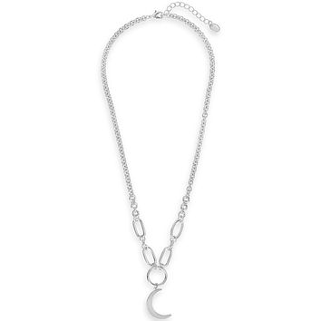 Moon Chain Link Necklace