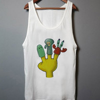 The Gang's All Here plankton squidward mr krab  funny tanktop for men and women
