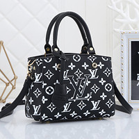 LV Louis Vuitton new printed letter handbag shoulder bag messenger bag