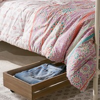 Under-The-Bed Rolling Wood Storage Box | Urban Outfitters