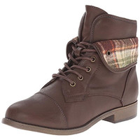 Rampage Vera Faux Leather Toddler Girl Combat Boots