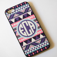 iPhone 5 Case - Monogrammed Personalized iPhone Case , Monogram iPhone Case  , iPhone 4 4s case , Geometric Case , Aztec , tribal