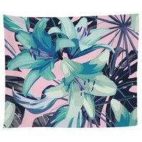 Neon Flowers Tapestry