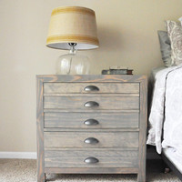 Printers cabinet, nightstand  printers cabinet, nightstand, end table, industrial nightstand, industrial end table