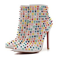 Christian Louboutin Women Fashion Casual Heels Shoes Boots-47