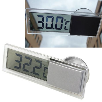 Suction Car Windscreen Or Auto Rear View Mirror Digital Display Thermometer  D_L = 1708655492