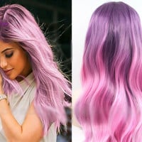 Purple To Pink Ombre Wig